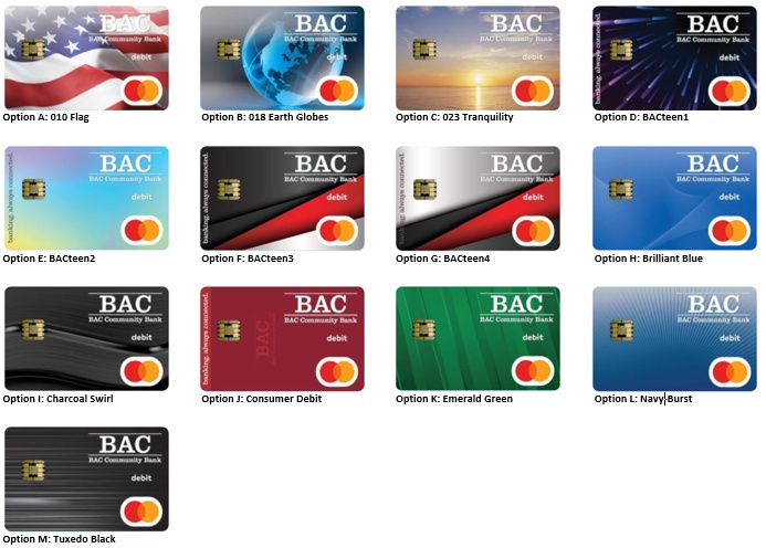 Instant Issue Personal Debit Card Gallery