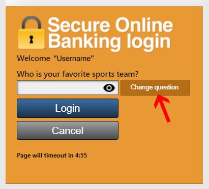 online banking login area illustration
