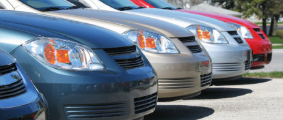 Image of a row of cars