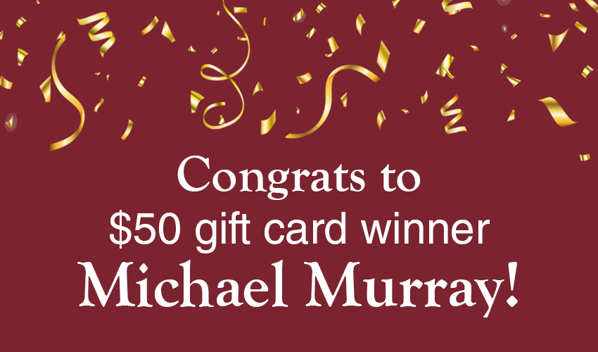 Monson Savings Bank Announces Michael Murray as the $50 Gift Card Winner to Arnold's Meats
