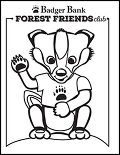 Billy Badger coloring page