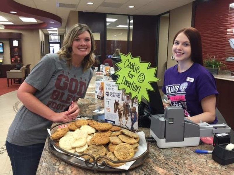 MCT employees, Chris and Magan, baking cookies to help support the MDA camp.  We collectively raised $5,823.00 to help send 7 kids to summer camp in 2017.