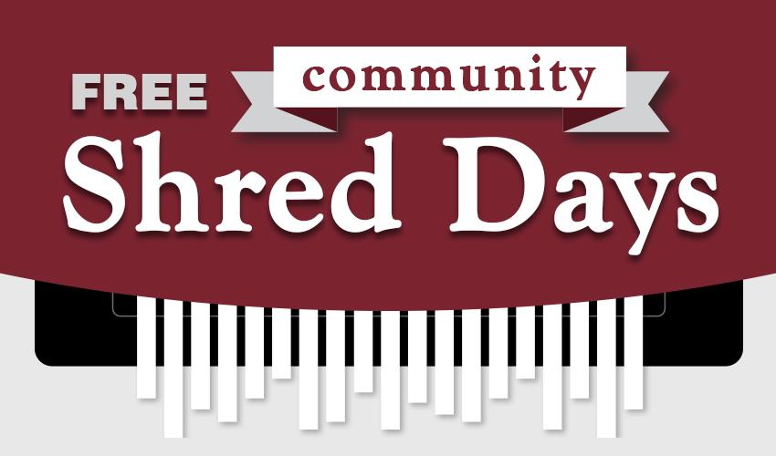 Monson Savings Bank is Hosting Five FREE Community Shred Days