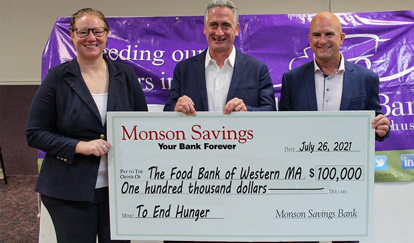Monson Savings Bank Pledges $100,000 to the Food Bank of Western Massachusetts