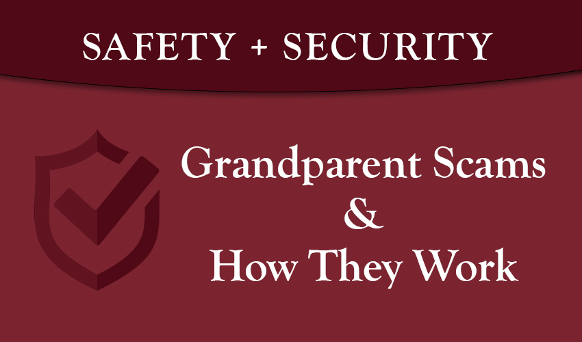 Monson Savings Bank Warns Older Americans about Grandparent Scams