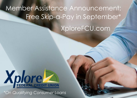 Free Skip-a-Pay in September on Qualifying Loans