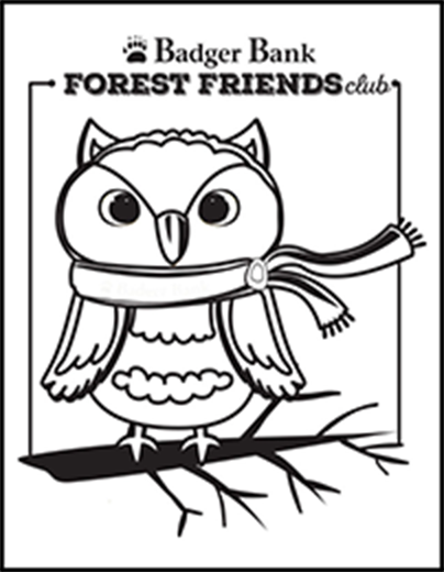 Oakley Owl coloring page
