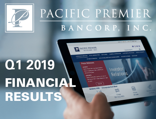Image of Pacific Premier Bancorp, Inc. Announces First Quarter 2019 Results