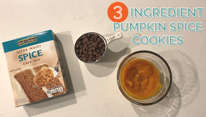 3 Ingredient Pumpkin Spice Cookies