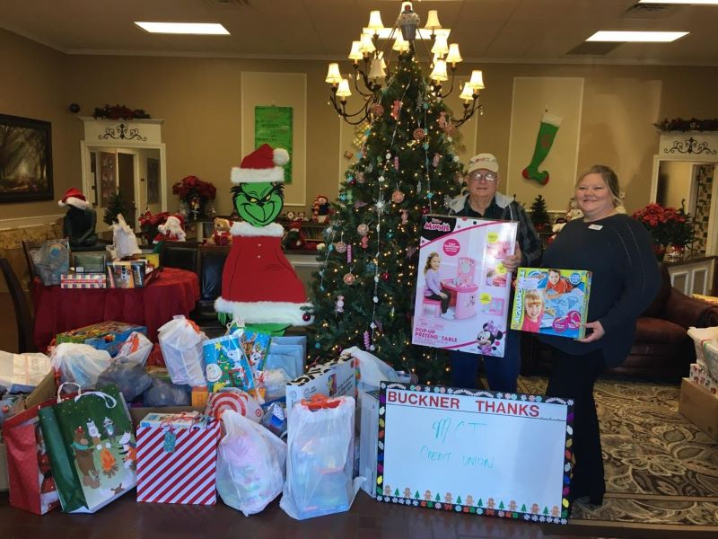 MCT happily provided gifts to Buckner Children's Village again this year. It's just in our nature!