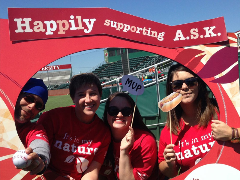 Happily supporting Adaptive Sports for kids.