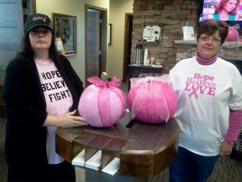 Throughout the month of October, branches raised money for Breast Cancer Awareness Month