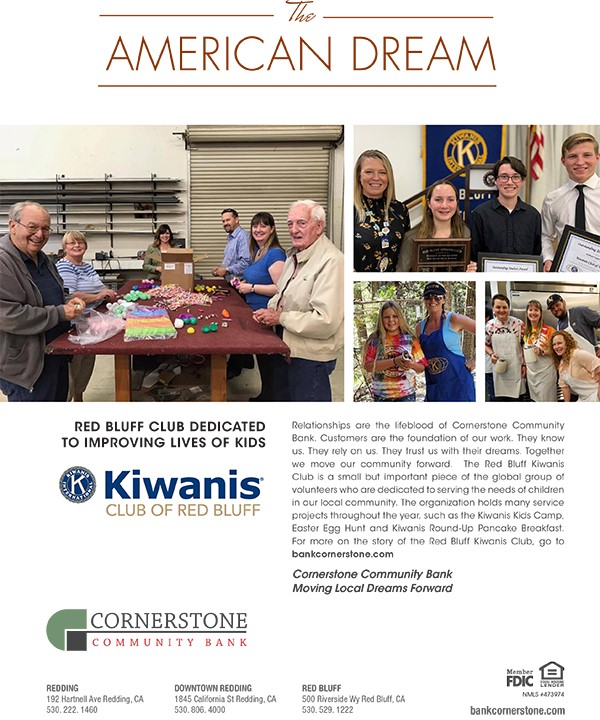The American Dream Cornerstone Community Bank Red Bluff Ca Redding Ca Corning Ca