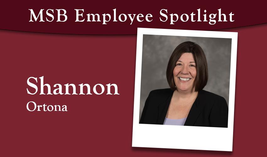 MSB Employee Spotlight: Shannon Ortona