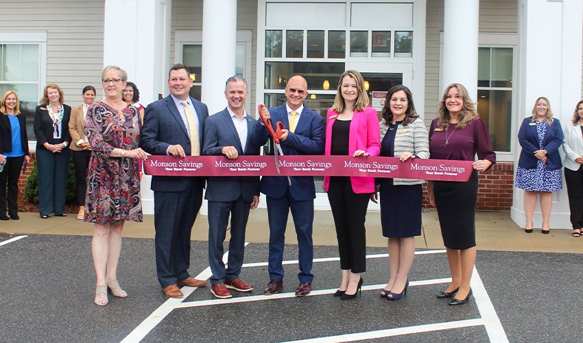 Monson Savings Bank's East Longmeadow Branch Commemorates First Anniversary with Ribbon Cutting and Celebration