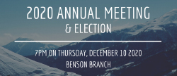 2020 Annual Meeting and Election Update