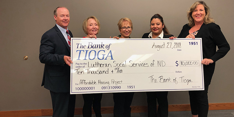 Partnership with Lutheran Social Services and The Bank of Tioga Serves as Statewide Model