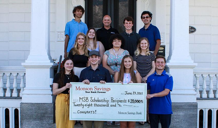 Monson Savings Bank Awards $28,000 in Scholarships to Local High School Graduates