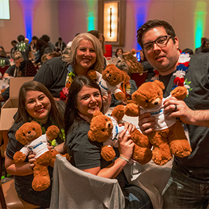 Pelican State CU Creates 275 Stuffed Bears for Life of a Single Mom