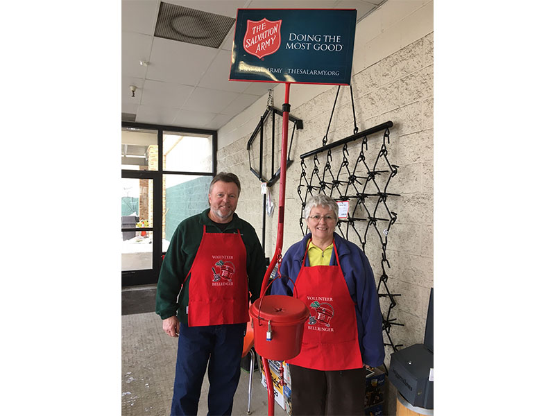 Dave Wangen & Melissa Eckman Ringing Bells for the Salvation Army