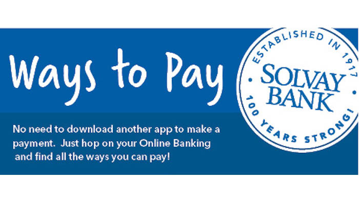 Find More Ways to Pay at Solvay Bank