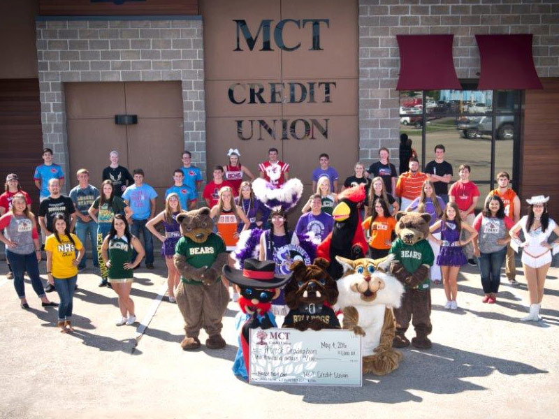 MCT supports local high school project graduations by offering the spirit debit cards to members. A portion of the proceeds go to the schools each time a member swipes their card.