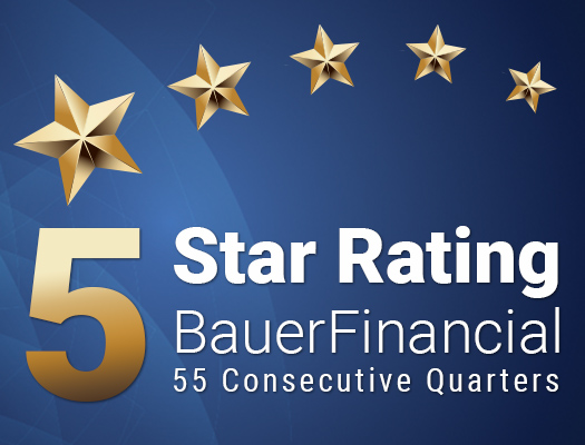 Image of Proudly Rated 5-Stars by BauerFinancial