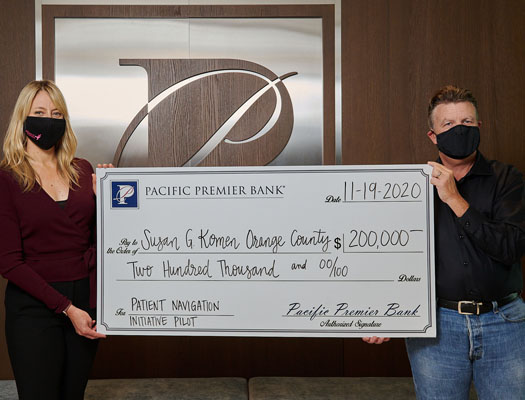 Image of Pacific Premier Bank Makes $200,000 Grant to Susan G. Komen's Patient Navigation Initiative for Breast Health in Orange County