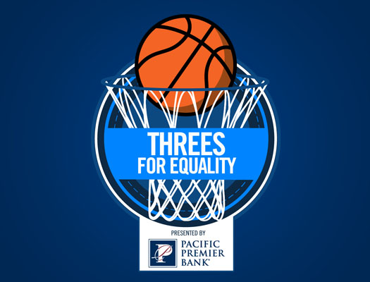 Image of Pac-12 Threes for Equality, Presented by Pacific Premier Bank