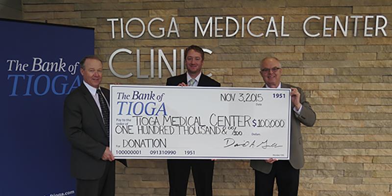 The Bank of Tioga Donates $100,000 to Tioga Medical Center