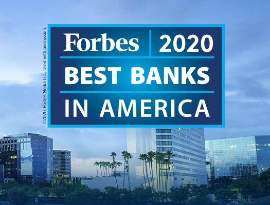 Image of Pacific Premier Ranked #3 on Forbes' List of America's Best Banks 2020