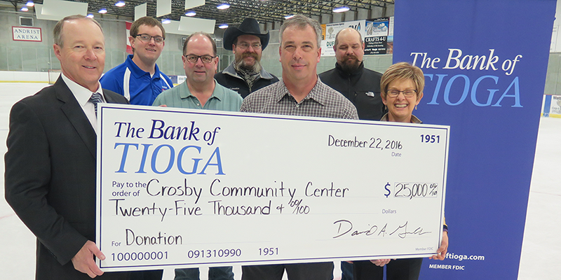 Crosby Community Center Receives $25,000 from The Bank of Tioga