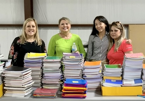 American Momentum Bank collects school supplies for local charities