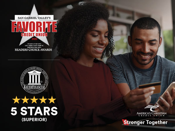 ACCU AWARDED FAVORITE CREDIT UNION AND FIVE-STAR RATING