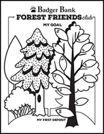 Forest Friends coloring page