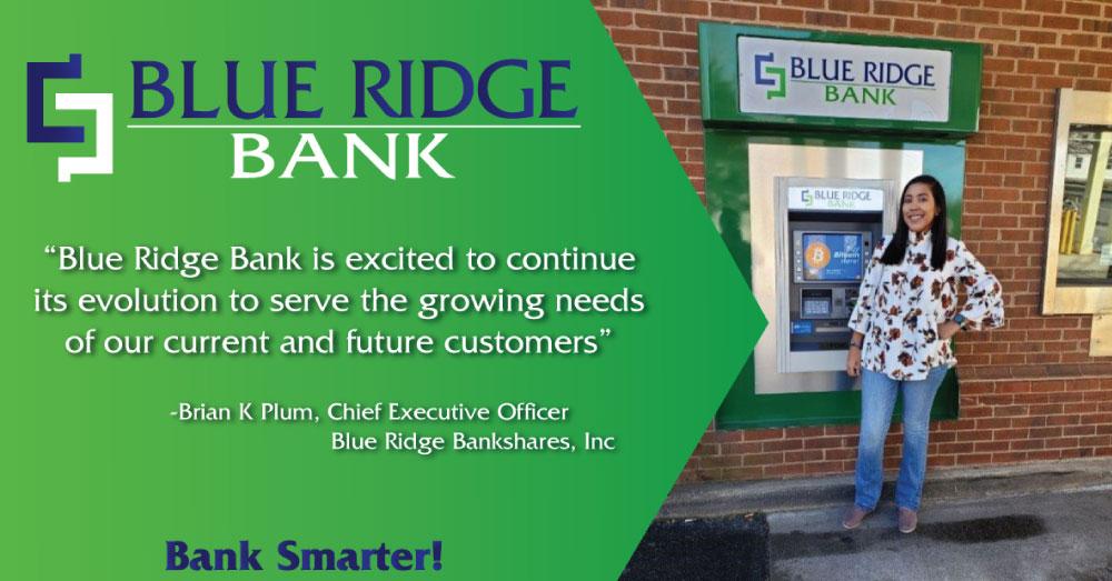 Blue Ridge Bank Announces Bitcoin Access at ATMs!