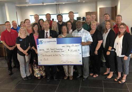FCCU Raises Record Donation of $10,000 for Veterans