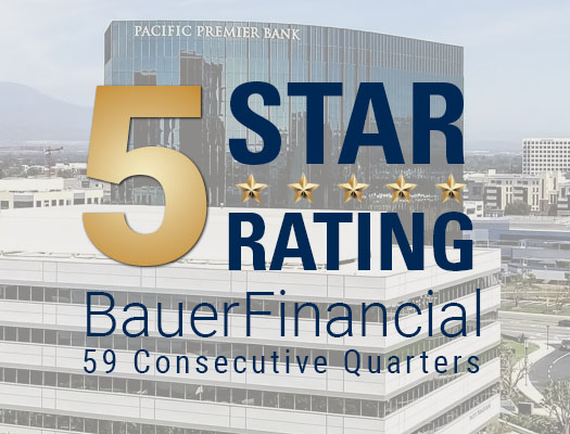 Image of Pacific Premier Rated High Performing by BauerFinancial