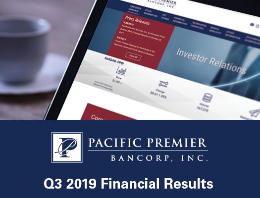 Image of Pacific Premier Bancorp, Inc. Announces Third Quarter 2019 Results