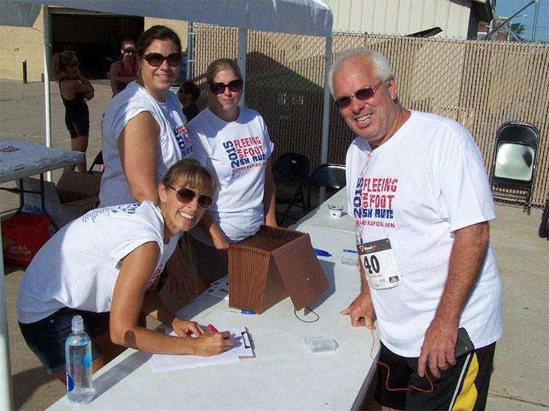 Fleeing on Foot 5K: Volunteer work within our communities
