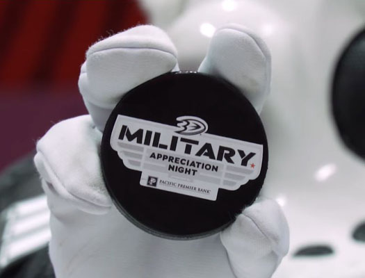Image of Anaheim Ducks Military Appreciation Night, Presented by Pacific Premier Bank