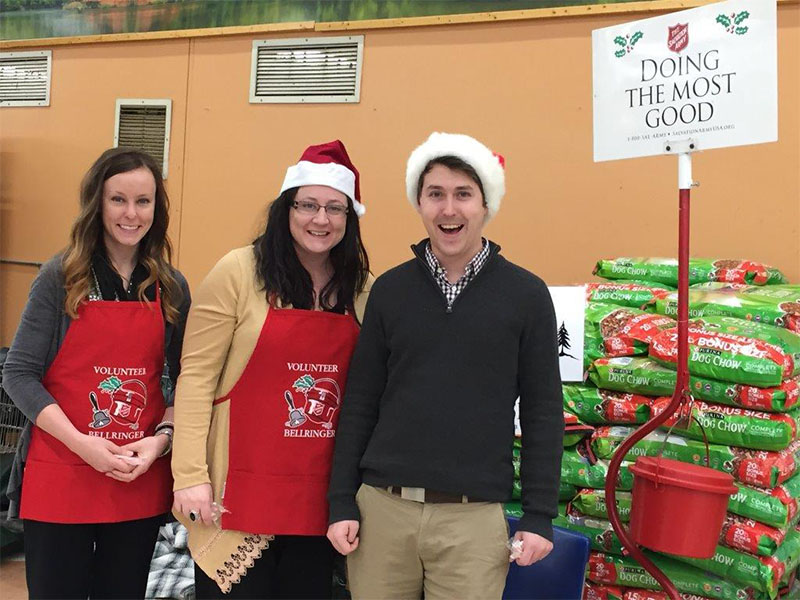 Employees Volunteering for Salvation Army Bell Ringing