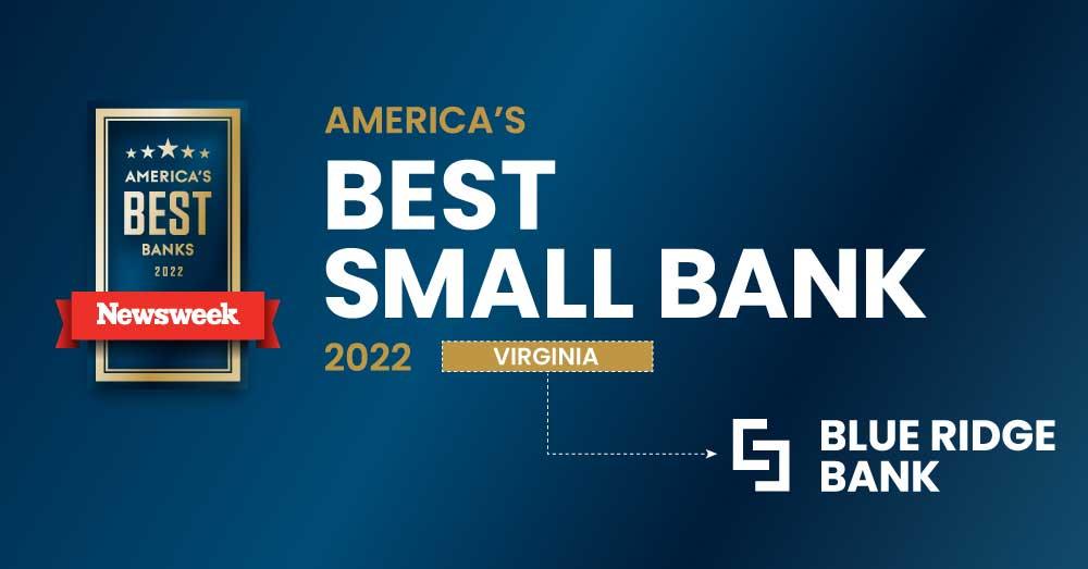 Blue Ridge Bank Named One of America's Best Banks by Newsweek