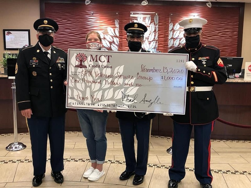 Our Patriotic Debit Card allows us to give back to those who have given us so much! We are honored to support our local Southeast Texas Veterans Service Group!