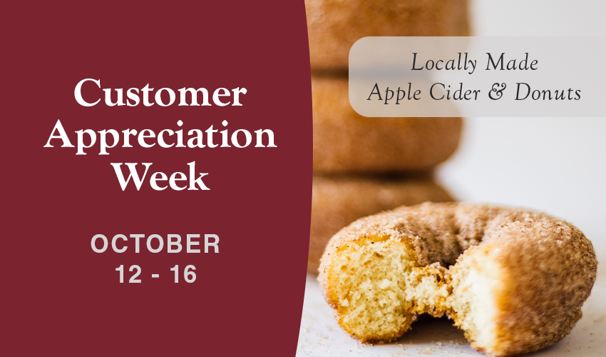 Monson Savings Bank Hosts Customer Appreciation Events  October 12 - 16th, with Local Sweet Treats