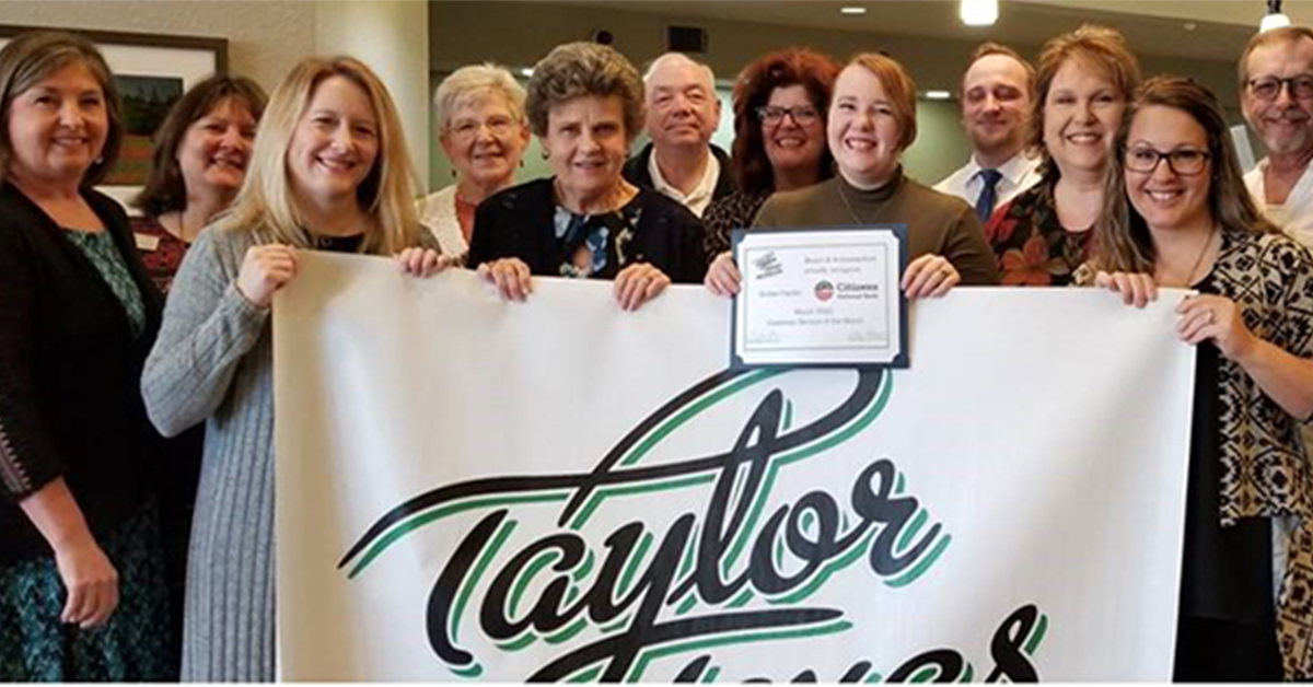 Taylor Chamber of Commerce Customer Service Award