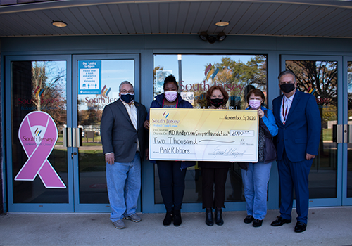SJFCU donates to MD Anderson Cooper Foundation