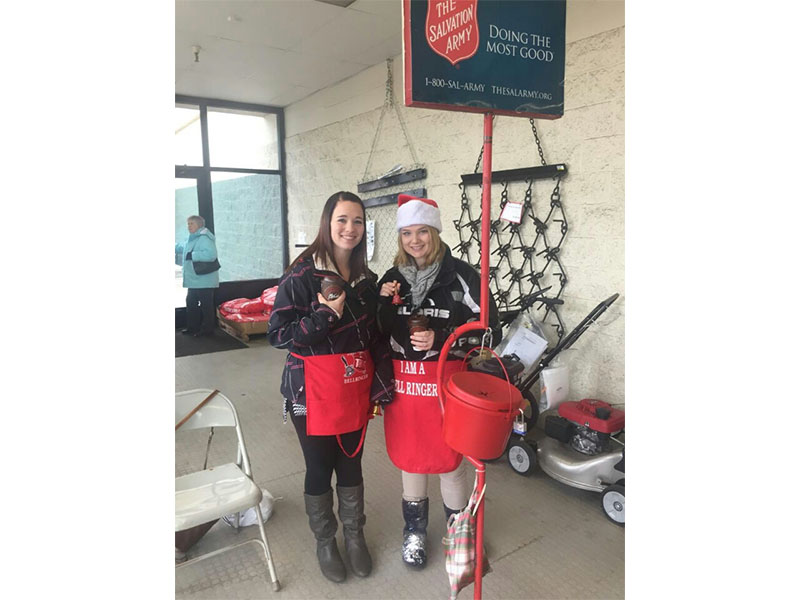 Woodland Bank employees were volunteer Bell Ringers at L&M Supply in December 2015