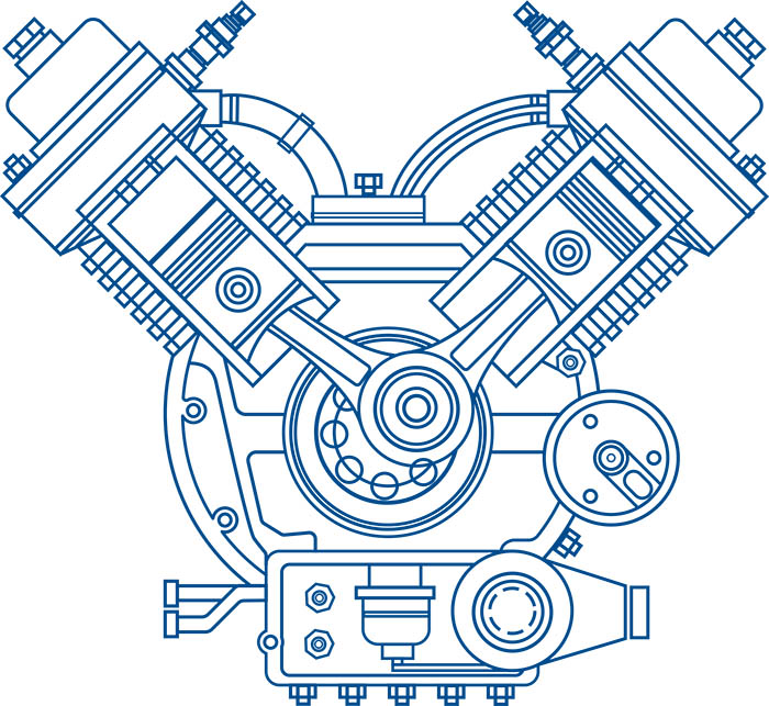 illustration of automobile engine