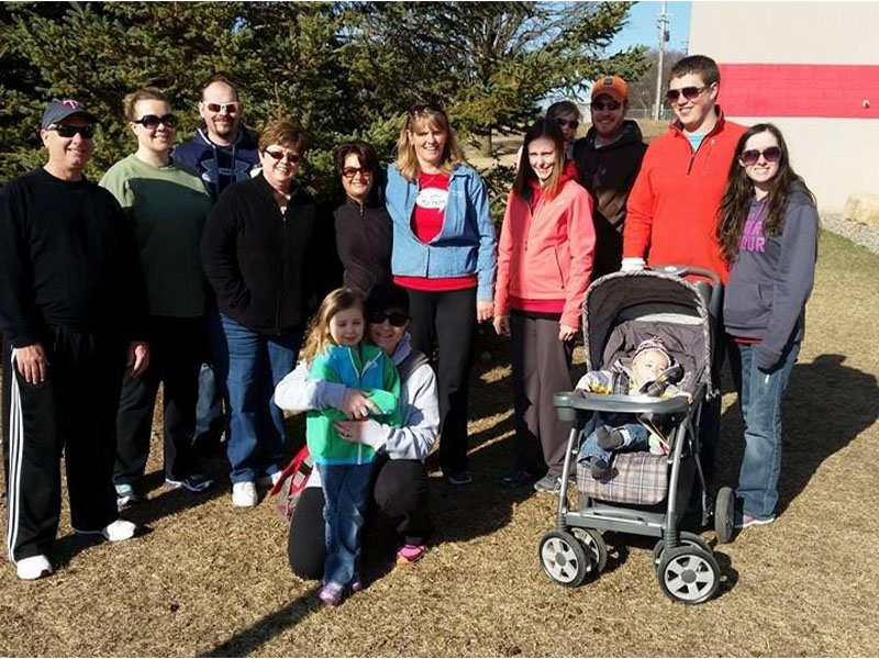Employees took part in the March of Dimes Walk
